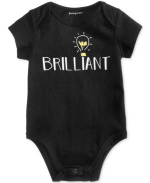 First Impressions Brilliant Cotton Bodysuit Baby Boys  Girls (024 months) Created for Macys