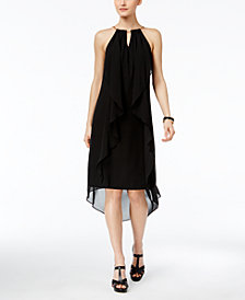 Thalia Sodi Chain-Neck High-Low Halter Dress, Created for Macy's