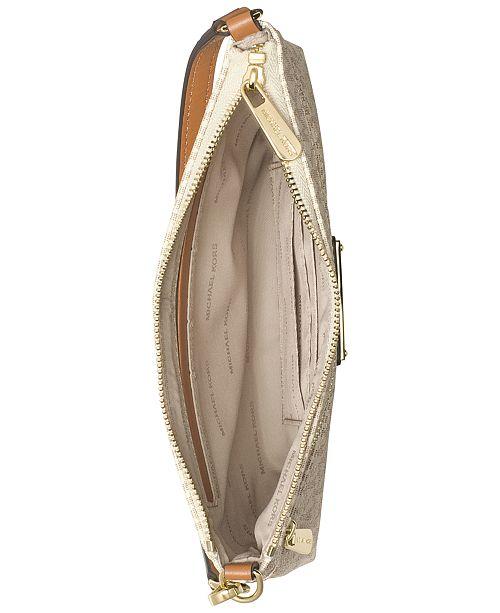 f9e94ecdbc43 Michael Kors Signature Jet Set Large Wristlet   Reviews - Handbags ...