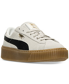 Puma Women's Suede Platform Casual Sneakers from Finish Line