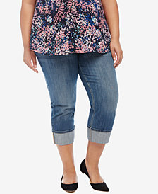 Motherhood Maternity Plus Size Dark Wash Cropped Jeans
