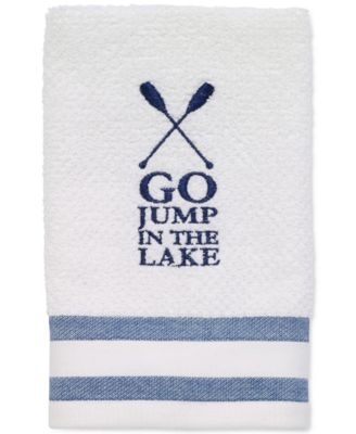 "Lake Words 12"" x 18"" Fingertip Towel"