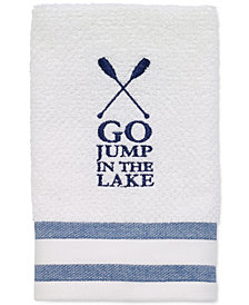 "Avanti Lake Words 12"" x 18"" Fingertip Towel"