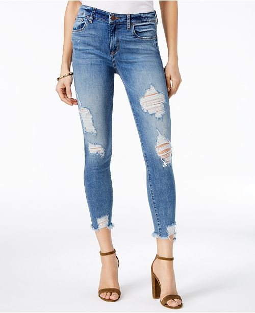 STS Blue Harper High Rise Deconstructed Skinny Jeans