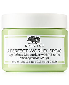 Origins A Perfect World SPF 40 Age Defense Moisturizer With White Tea, 1.7 oz