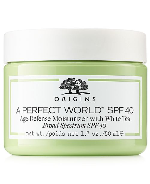 Origins A Perfect World SPF 40 Age-Defense Moisturizer with White Tea, 1.7-oz.