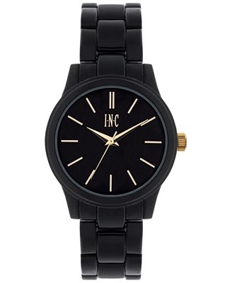 INC International Concepts Women's Black Bracelet Watch 38mm IN020GBK, Only at Macy's