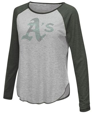 Touch by Alyssa Milano Women's Oakland Athletics Line Drive Long Sleeve T-Shirt