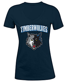 5th & Ocean Women's Minnesota Timberwolves Mesh Logo T-Shirt