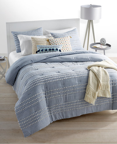 CLOSEOUT! Whim by Martha Stewart Collection Connect The Dots Duvet Sets, Created for Macy's
