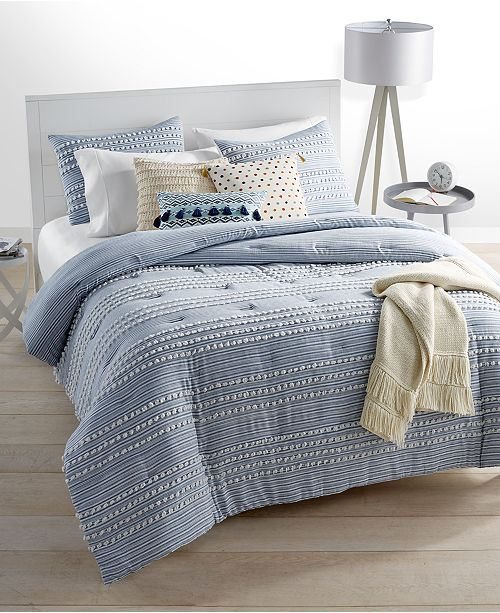 Martha Stewart Collection CLOSEOUT! Connect The Dots Bedding Collection, Created for Macy's