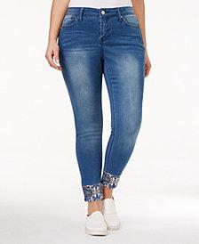 Hydraulic Trendy Plus Size Tribeca Embellished Lunarine Wash Skinny Jeans