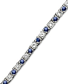 Sapphire (2-1/2 ct. t.w.) and White Sapphire (2-3/4 ct. t.w.) Bracelet in Sterling Silver (Also Available in Emerald)