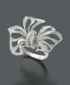 EFFY Diamond Diamond Bow (7/8 ct. t.w.) in 14k White Gold