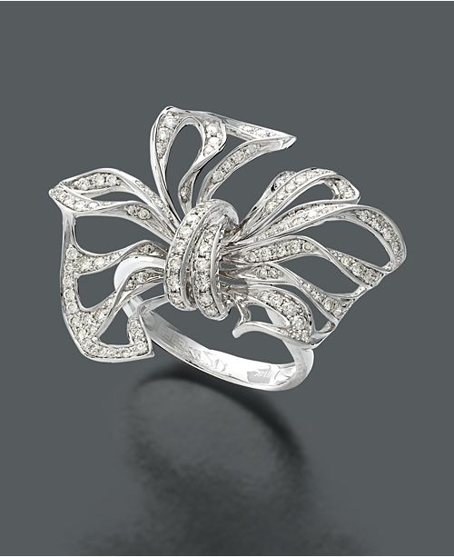 EFFY Collection EFFY Diamond Diamond Bow (7/8 ct. t.w.) in 14k White Gold