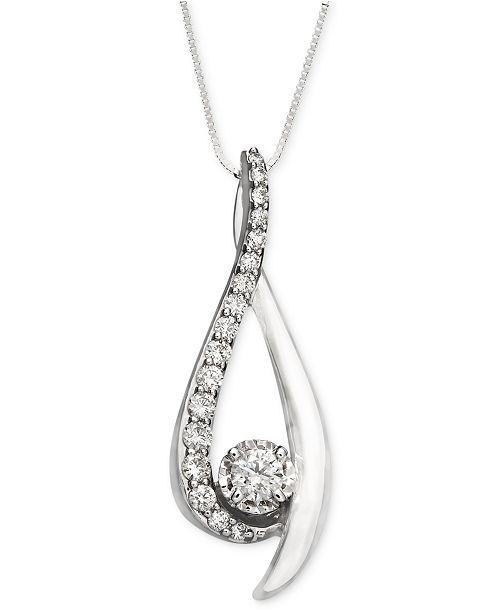 Sirena diamond pendant necklace in 14k white gold 38 ct tw main image main image mozeypictures Choice Image