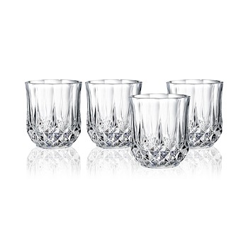 Longchamp Cristal DArques Set of 4 Double Old Fashioned Glasses