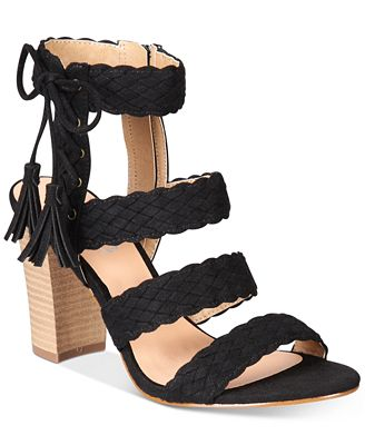 XOXO Binnie Strappy Block-Heel Sandals - Sandals - Shoes - Macy's