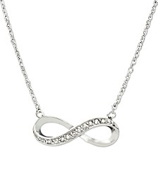 Diamond Infinity Pendant in Sterling Silver (1/10 ct. t.w.)