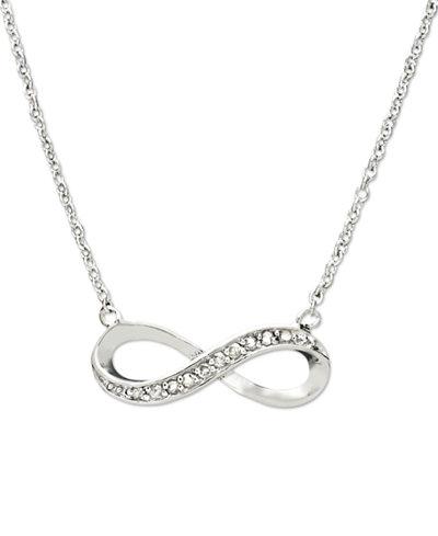Diamond Infinity Pendant in Sterling Silver (1/10 ct. t.w.)