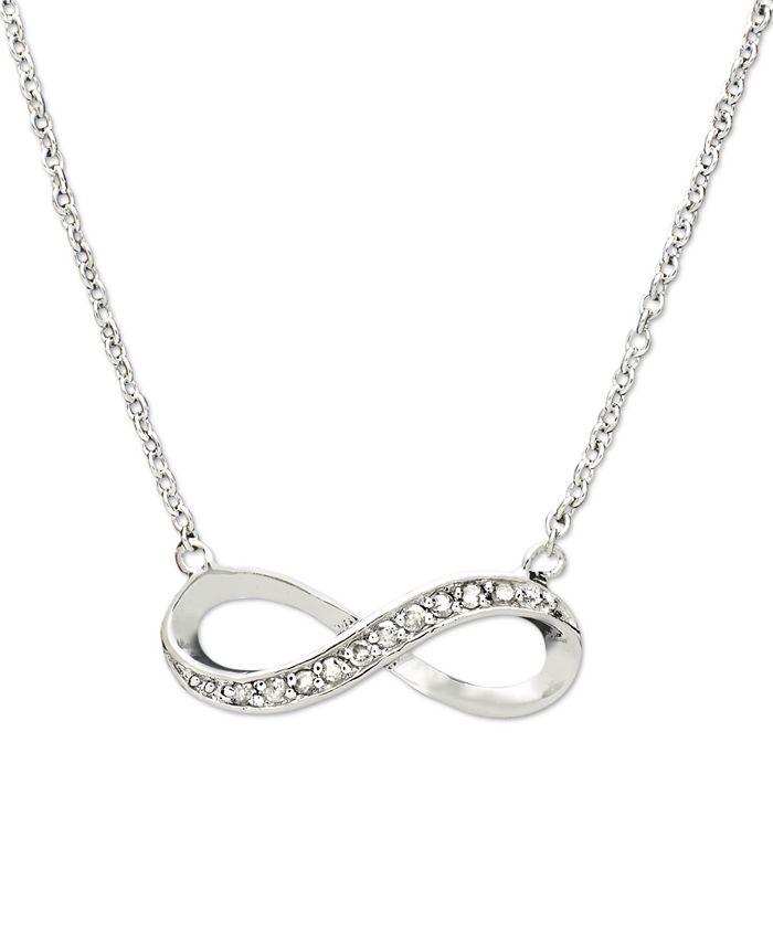 Macy's - Diamond Necklace, Sterling Silver Diamond Infinity (1/10 ct. t.w.)