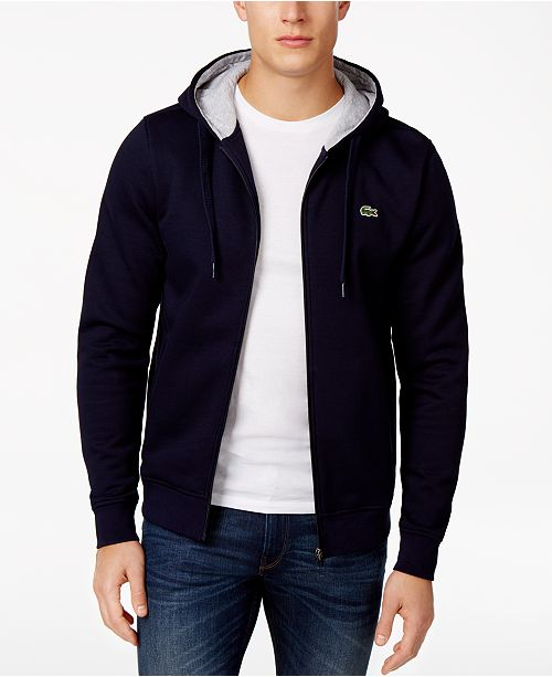 Lacoste Men's Sport Long Sleeve Full Zip Fleece Hoodie