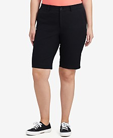 Lauren Ralph Lauren Plus Size Twill Shorts