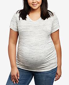 Motherhood Maternity Plus Size V-Neck Ruched T-Shirt