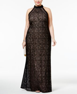 Nightway Plus Size Lace Gown