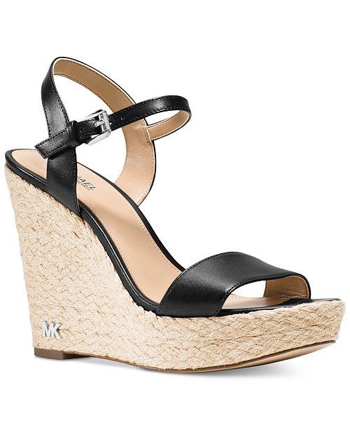 Michael Kors Jill Espadrille Wedge Sandals