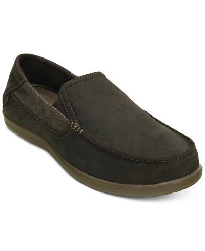 Crocs Men's Santa Cruz 2 Luxe Leather Slip-On Loafers
