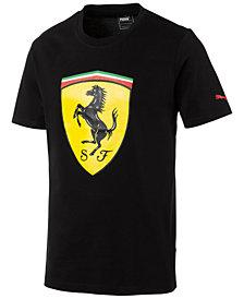 Puma Men's Ferrari Big Shield Cotton T-Shirt