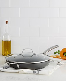 """Calphalon Classic Nonstick 12"""" Fry Pan with Cover"""