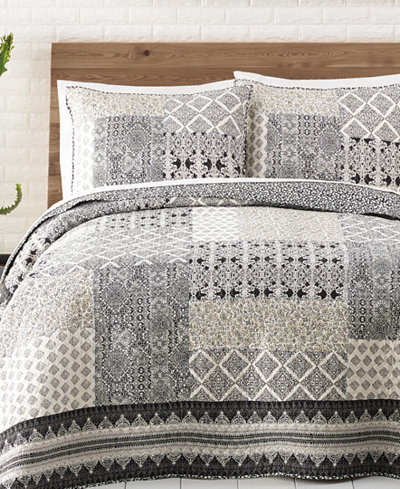 Jessica Simpson Ebony & Ivory Cotton Quilt and Sham Collection ... : cotton quilts - Adamdwight.com