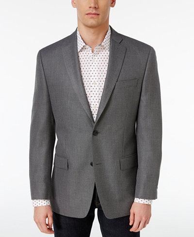 MICHAEL Michael Kors Men's Classic-Fit Gray Neat Sport Coat ...