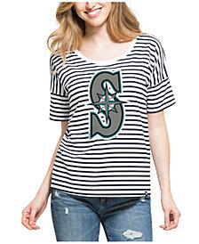 '47 Brand Women's Seattle Mariners Coed Stripe T-Shirt