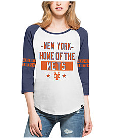 '47 Brand Women's New York Mets Triple Crown Raglan T-Shirt