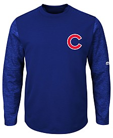 Majestic Men's Chicago Cubs AC On-Field Tech Fleece Pullover
