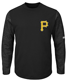 Majestic Men's Pittsburgh Pirates AC On-Field Tech Fleece Pullover