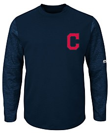 Majestic Men's Cleveland Indians AC On-Field Tech Fleece Pullover