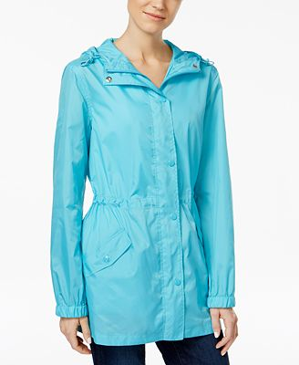 Charter Club Packable Rain Jacket, Created for Macy's - Jackets ...