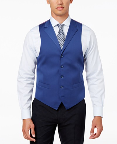 Sean John Men's Classic-Fit New Blue Solid Suit Vest