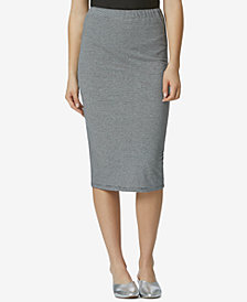 Avec Les Filles Cotton Knit Pencil Skirt