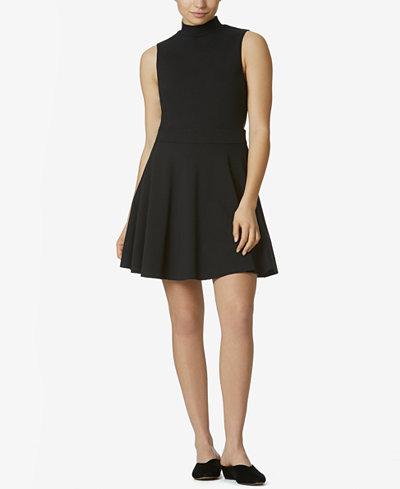 Avec Les Filles Ponté-Knit Fit & Flare Dress