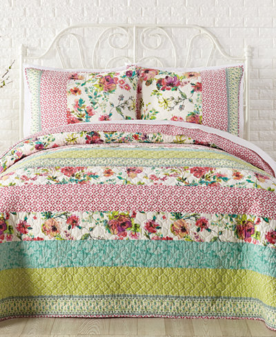 Jessica Simpson Boho Garden Cotton Quilt and Sham Collection ... : cotton quilts - Adamdwight.com