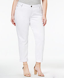 Kut from the Kloth Plus Size Catherine Destructed Boyfriend Jeans