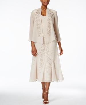 White Flapper Dresses, White 1920s Dresses R  M Richards Sleeveless Beaded V-Neck Dress and Jacket $129.00 AT vintagedancer.com