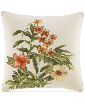 """Rio Embroidered 18"""" Square Decorative Pillow"""