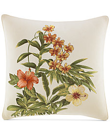 "Tommy Bahama Home Rio Embroidered 18"" Square Decorative Pillow"