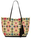 INC International Concepts Maisie Embroidered Tote, Only at Macy's